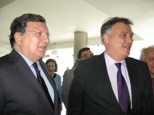 President of the European Commission, José Manuel Durão Barroso with Dr. Carlos Faro of Biocant.